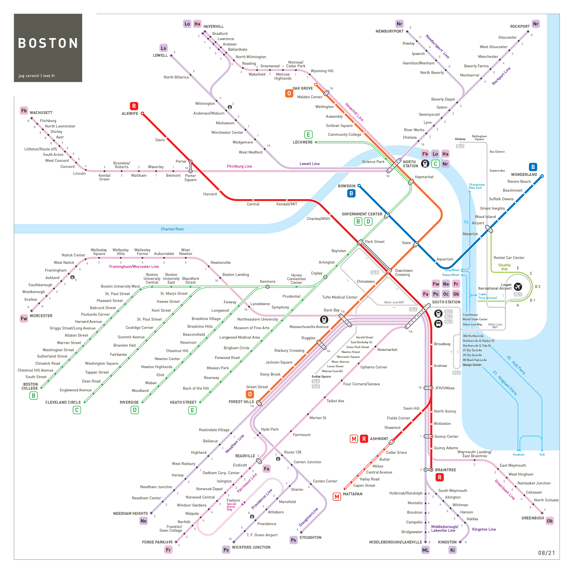 Boston metro map
