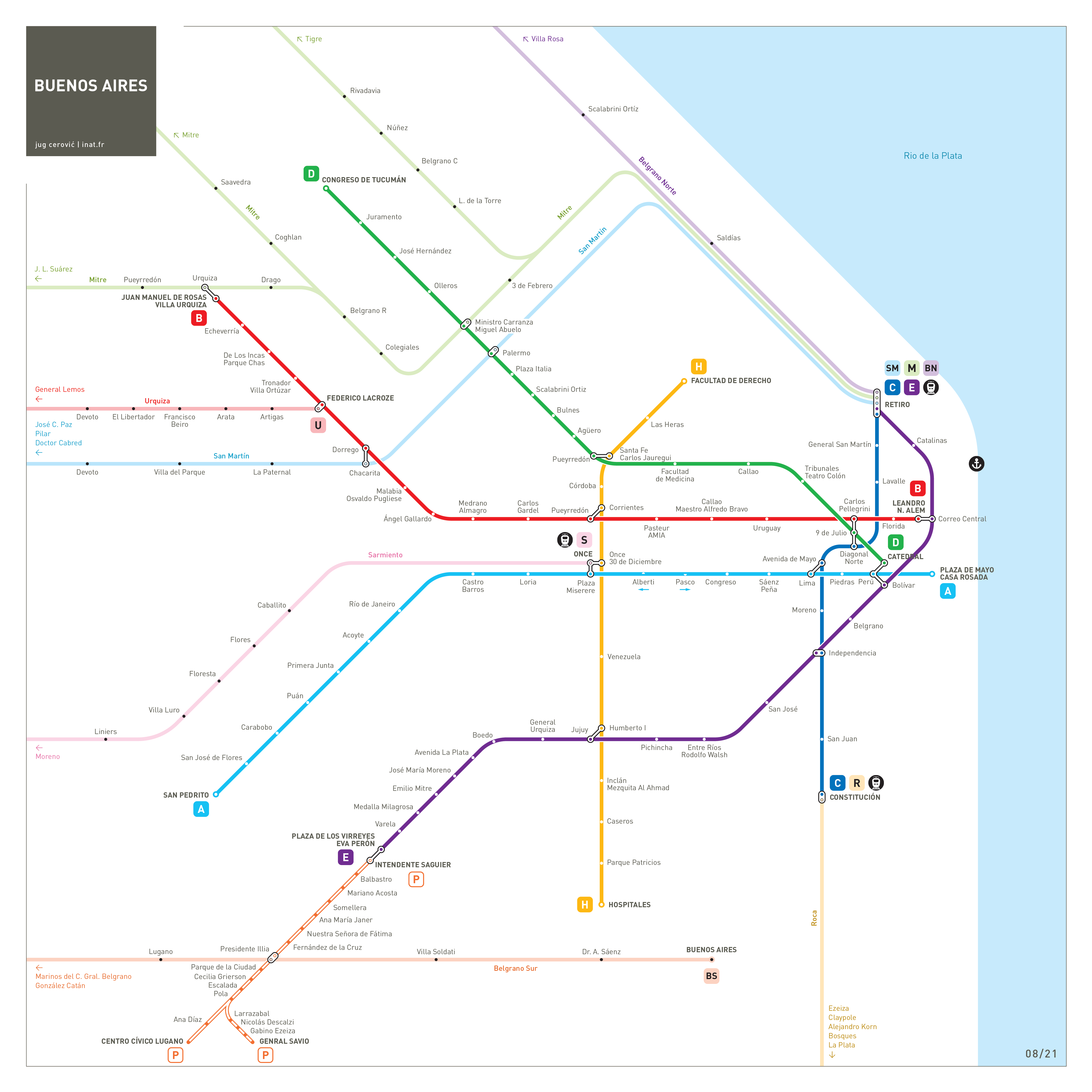 Buenos Aires metro map