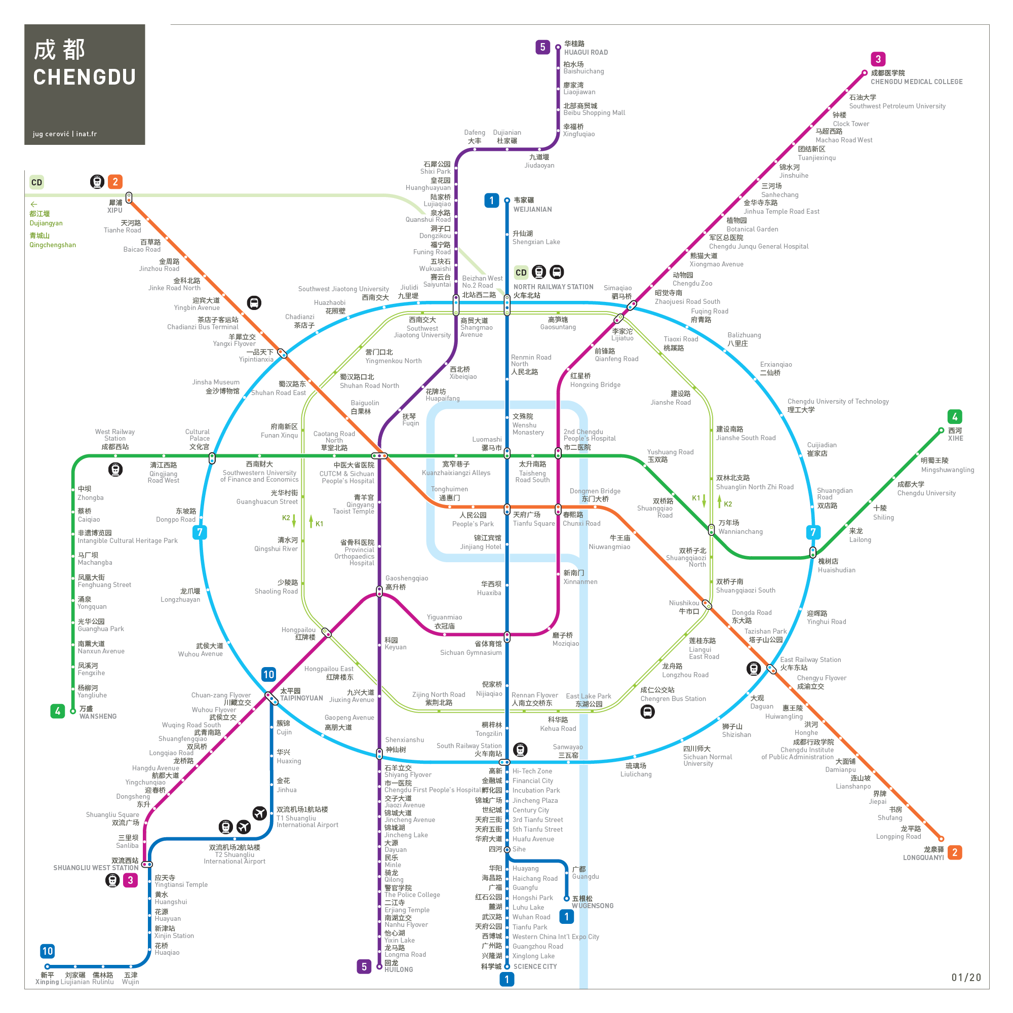 Chengdu metro map