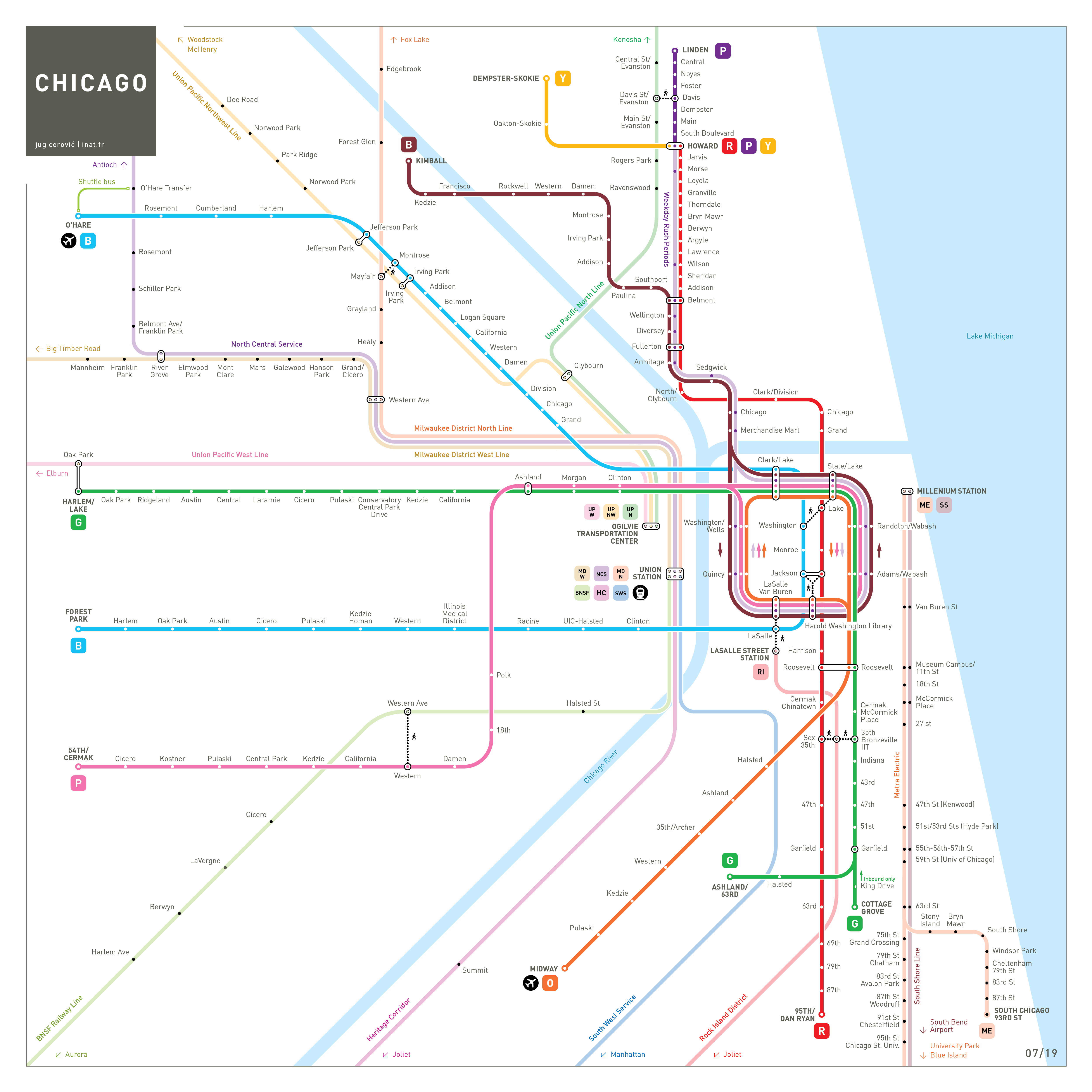 Chicago Subway Map  INAT maps