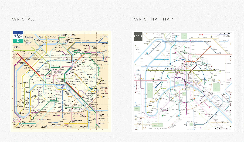 paris metro subway map comparison