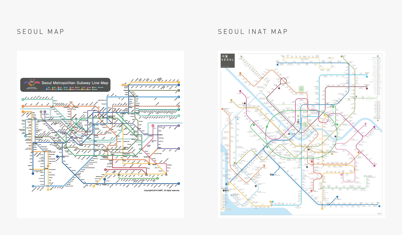 seoul metro subway map comparison