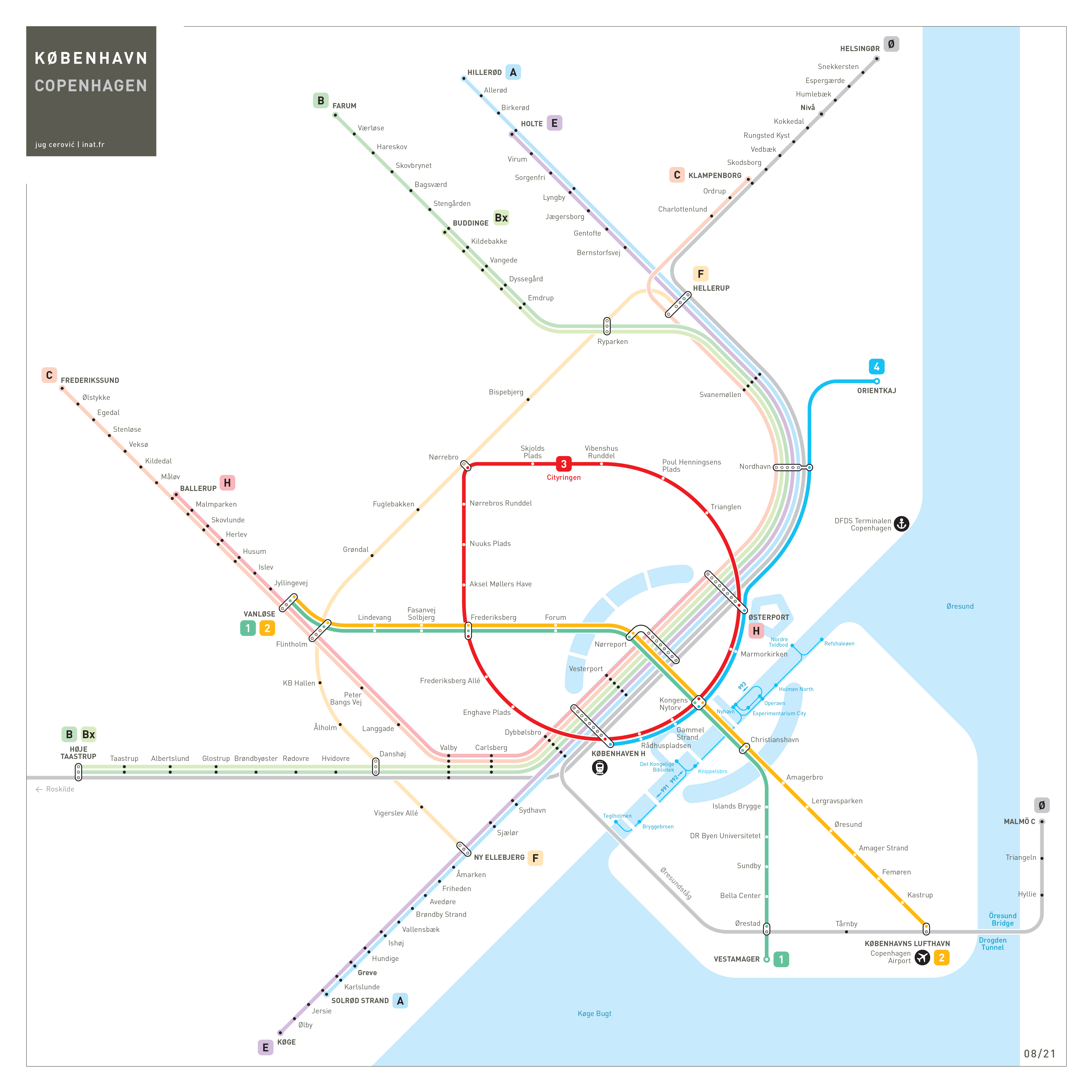 Copenhagen Metro Map Mapping and Wayfinding