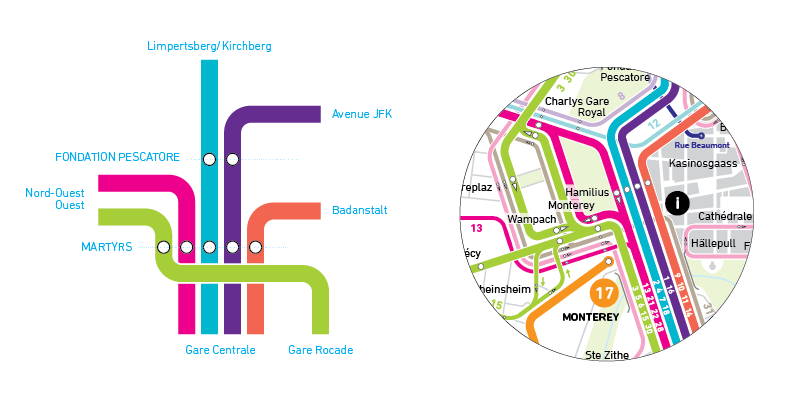 Luxembourg Bus Map Mapping and Wayfinding