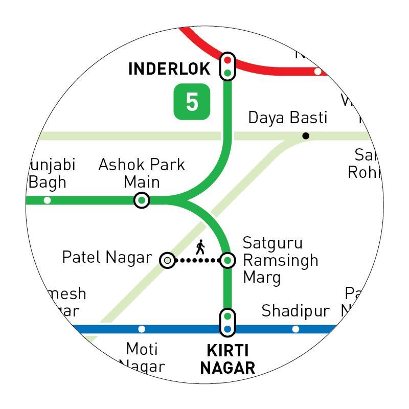 Delhi Metro Map Inat