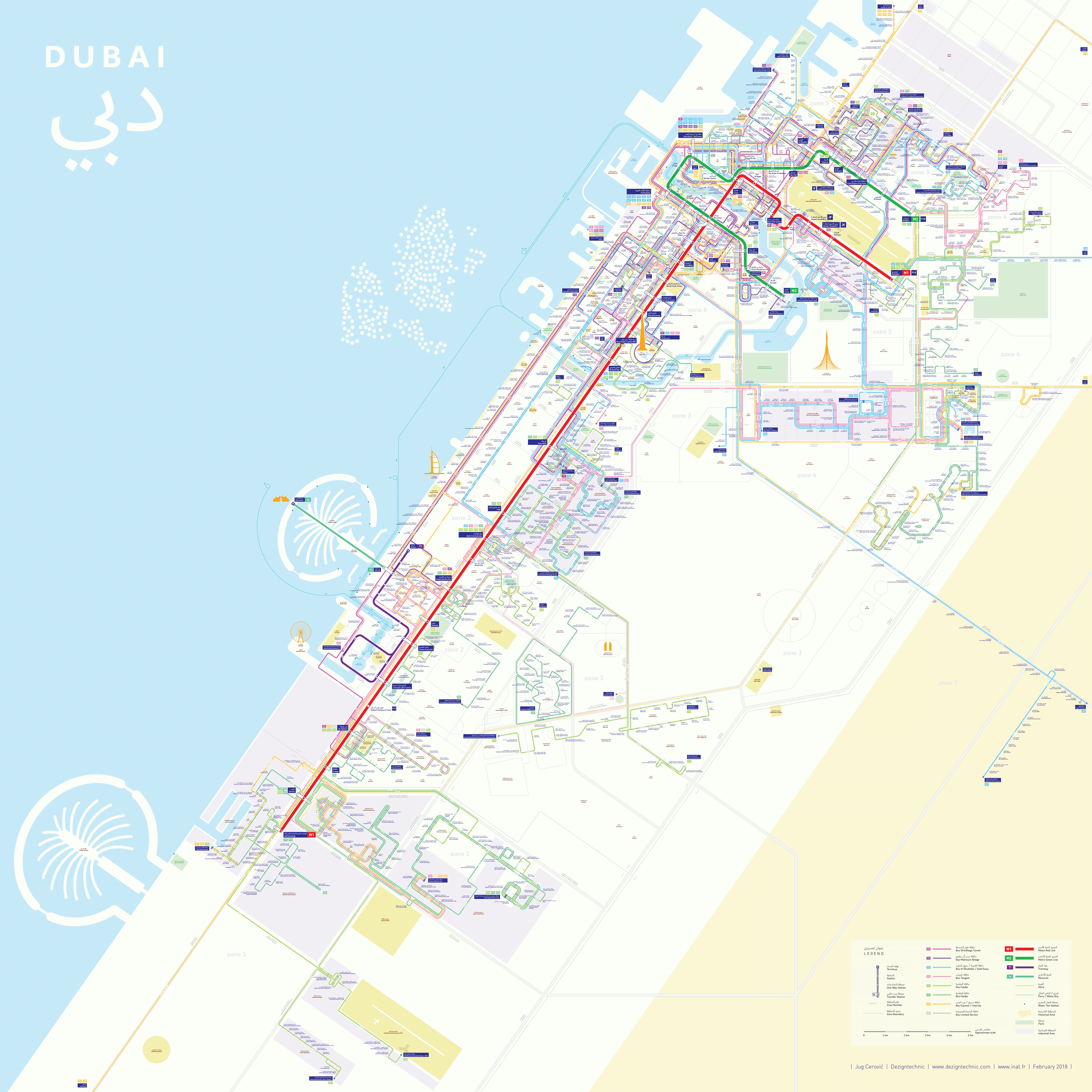 Dubai metro bus Mapping and Wayfinding