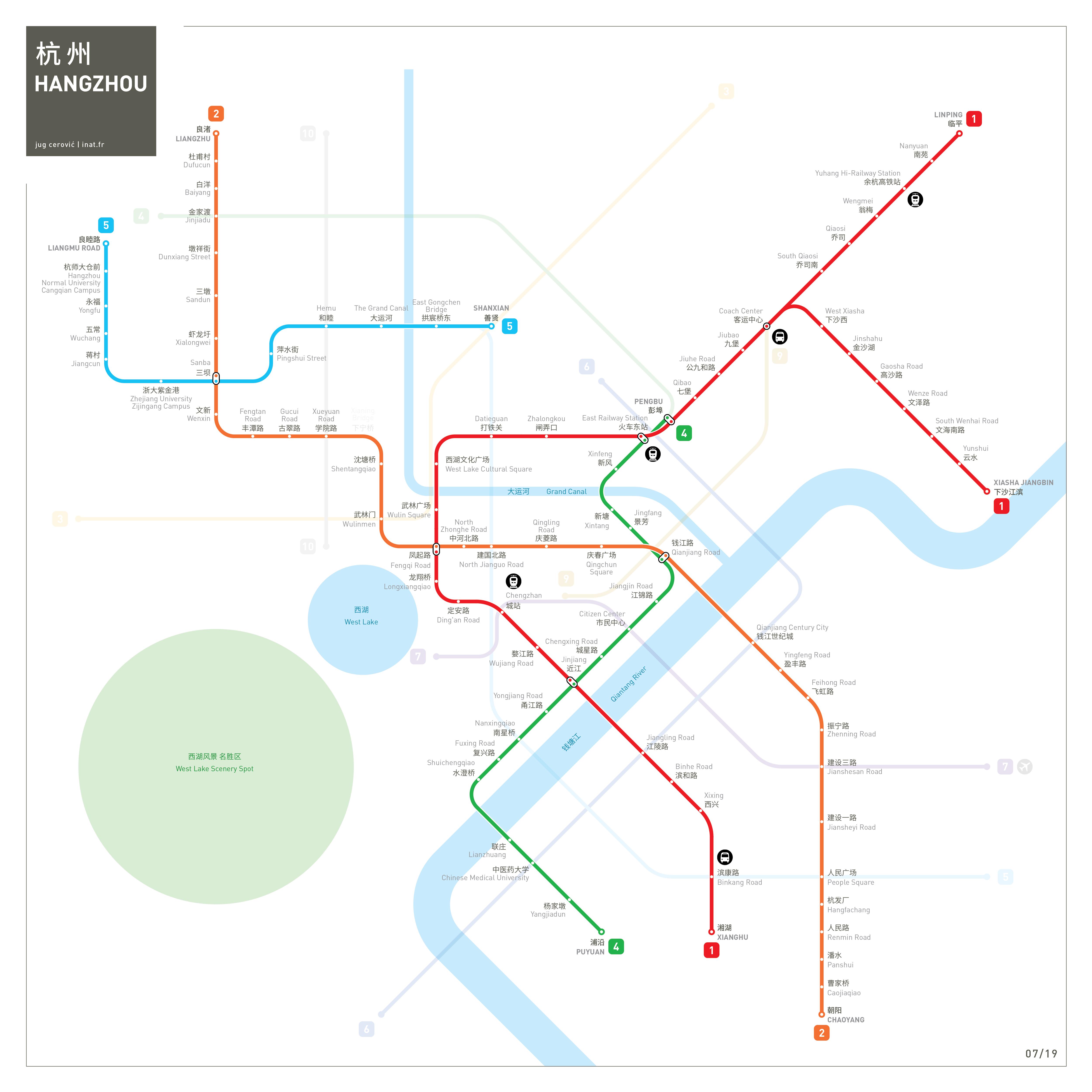 Hangzhou Metro Map Mapping and Wayfinding