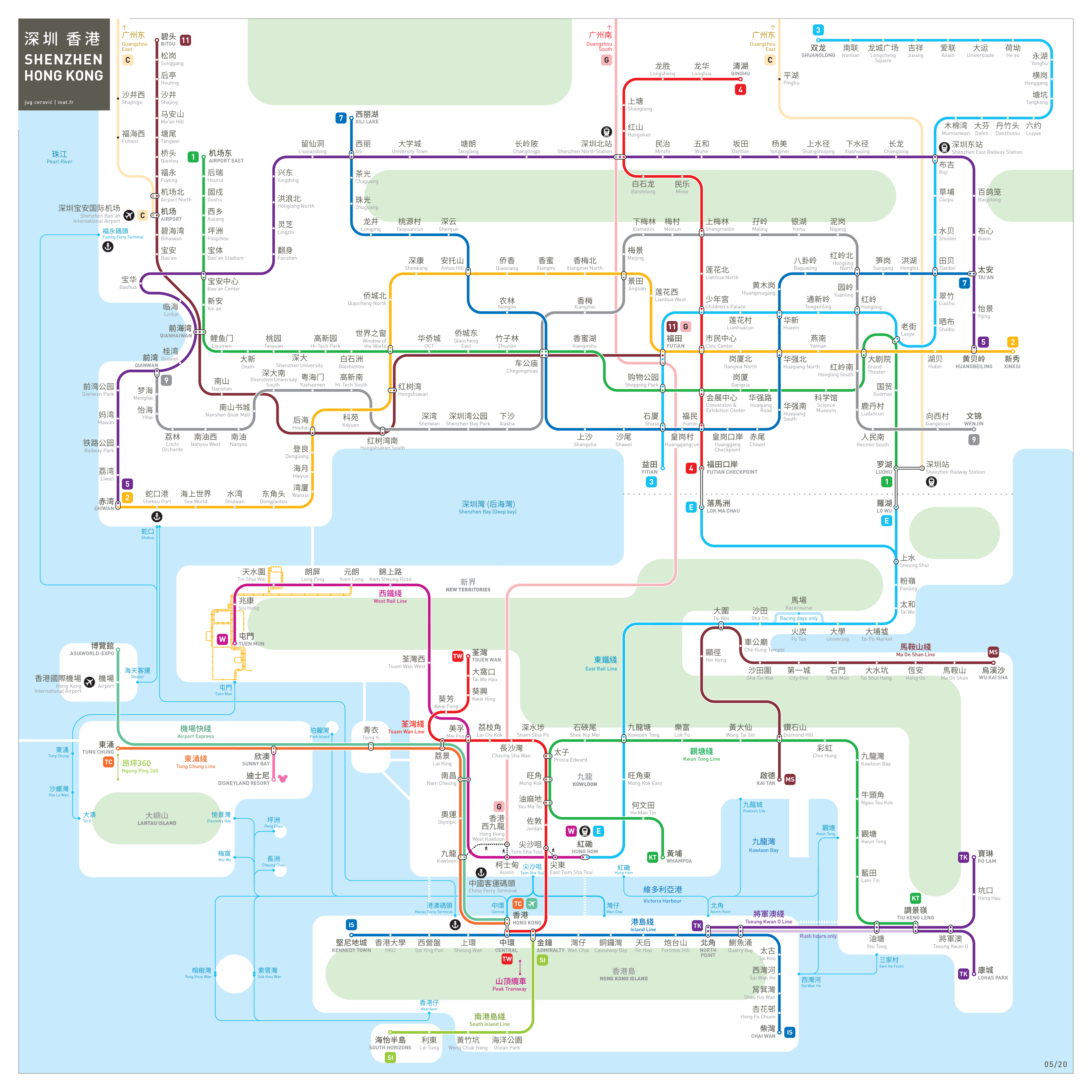 Hong Kong Shenzhen metro map