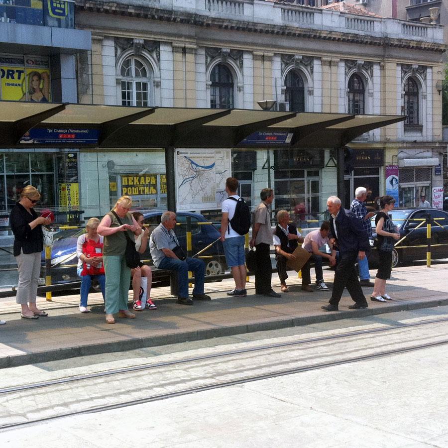Belgrade bus stop map