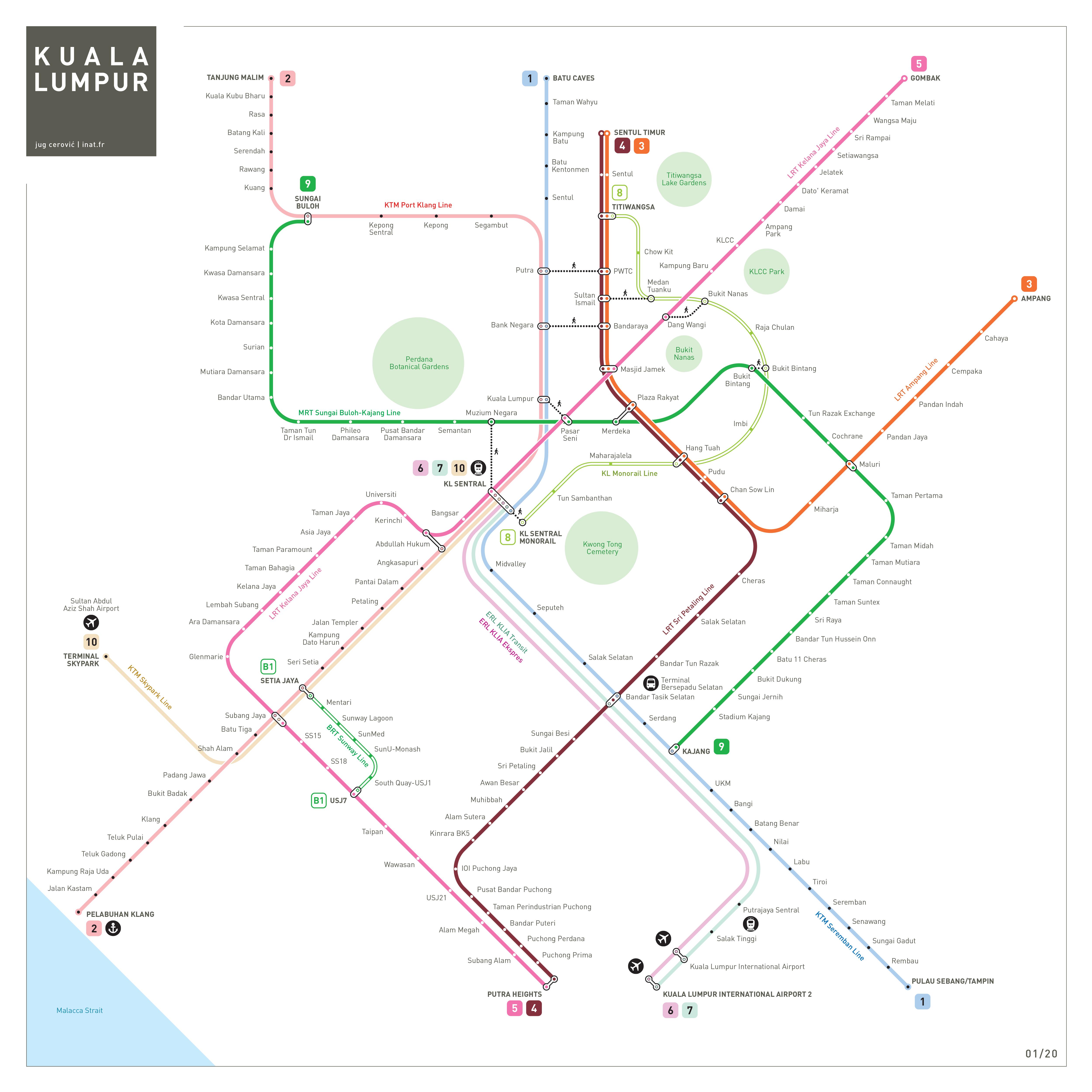 Kuala Lumpur metro subway map