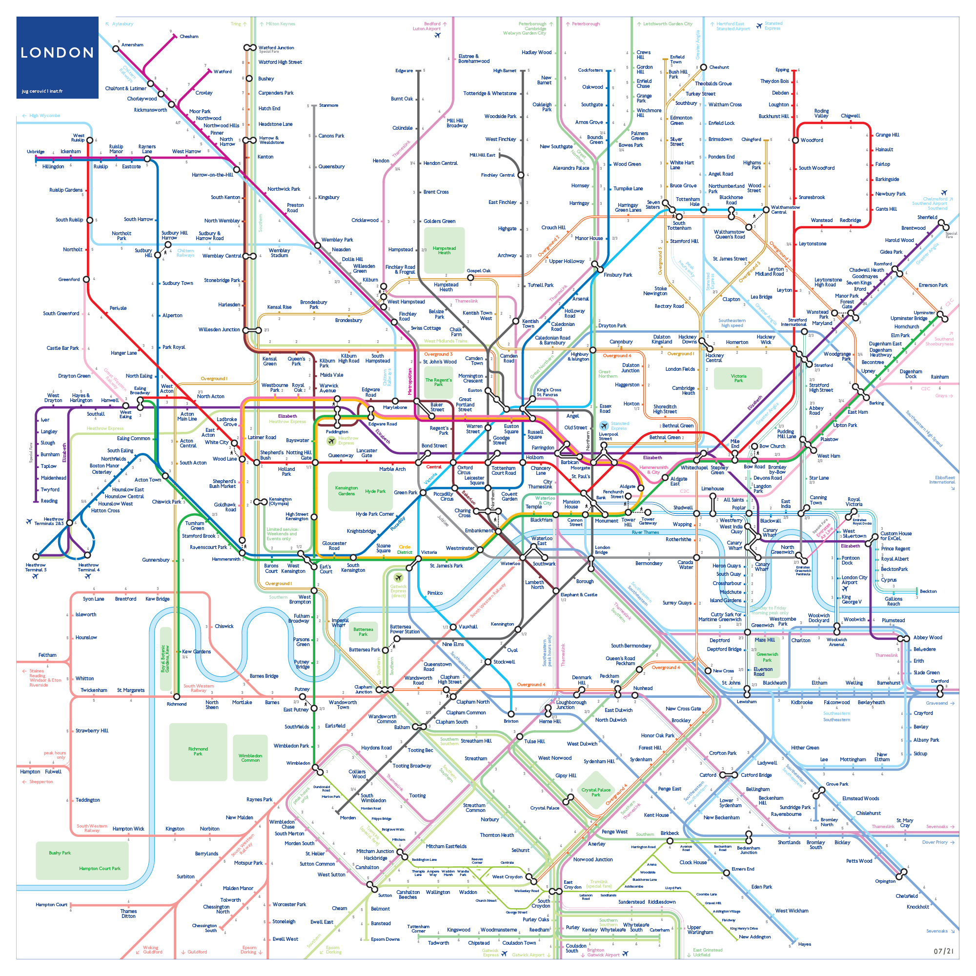 Beijing Subway Map 2021 Good Quality.Works Inat