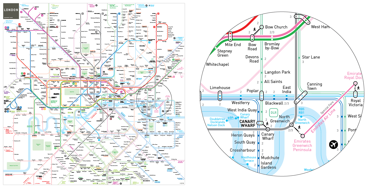 Subway Map Of London.London Underground And Rail Map Inat