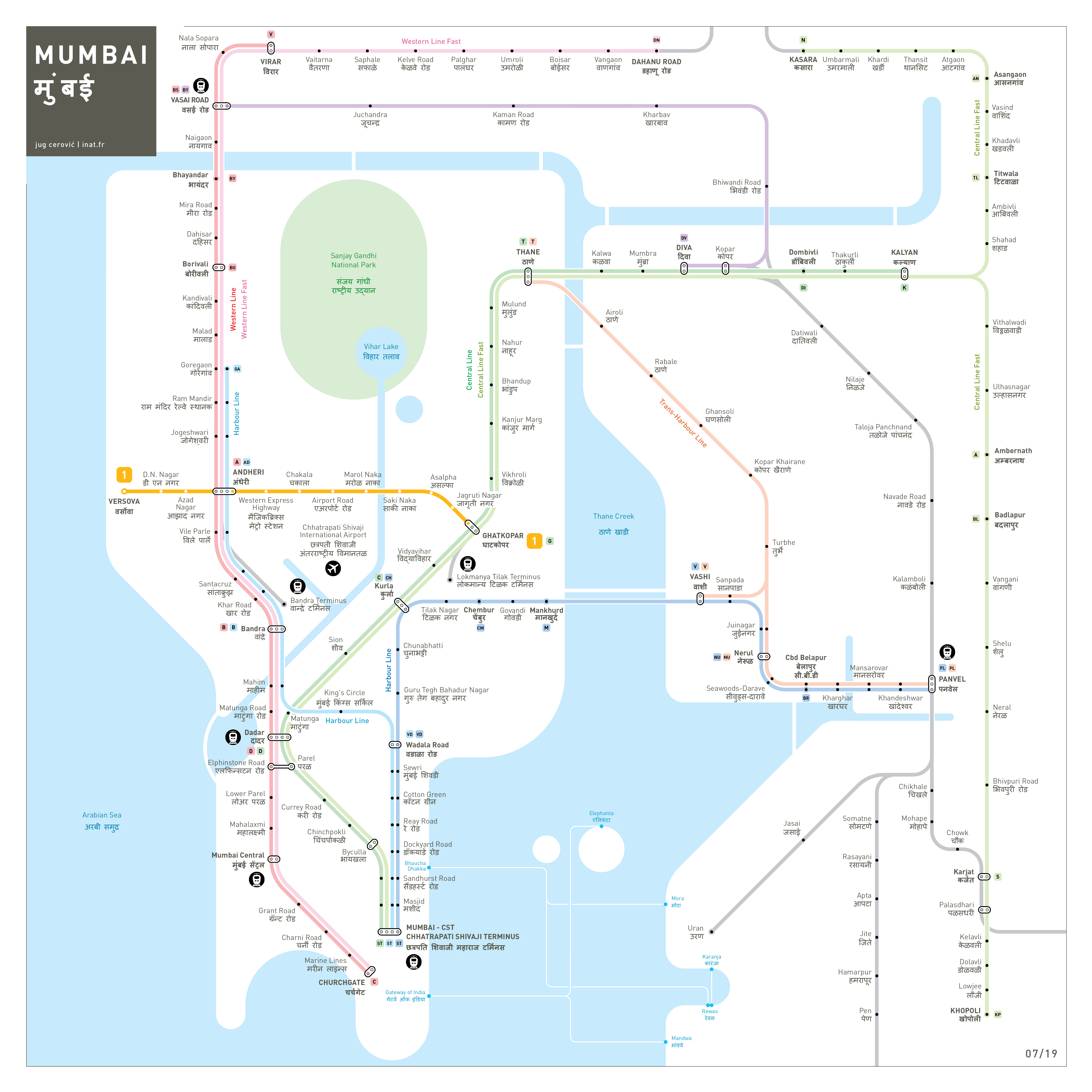 Mumbai metro map