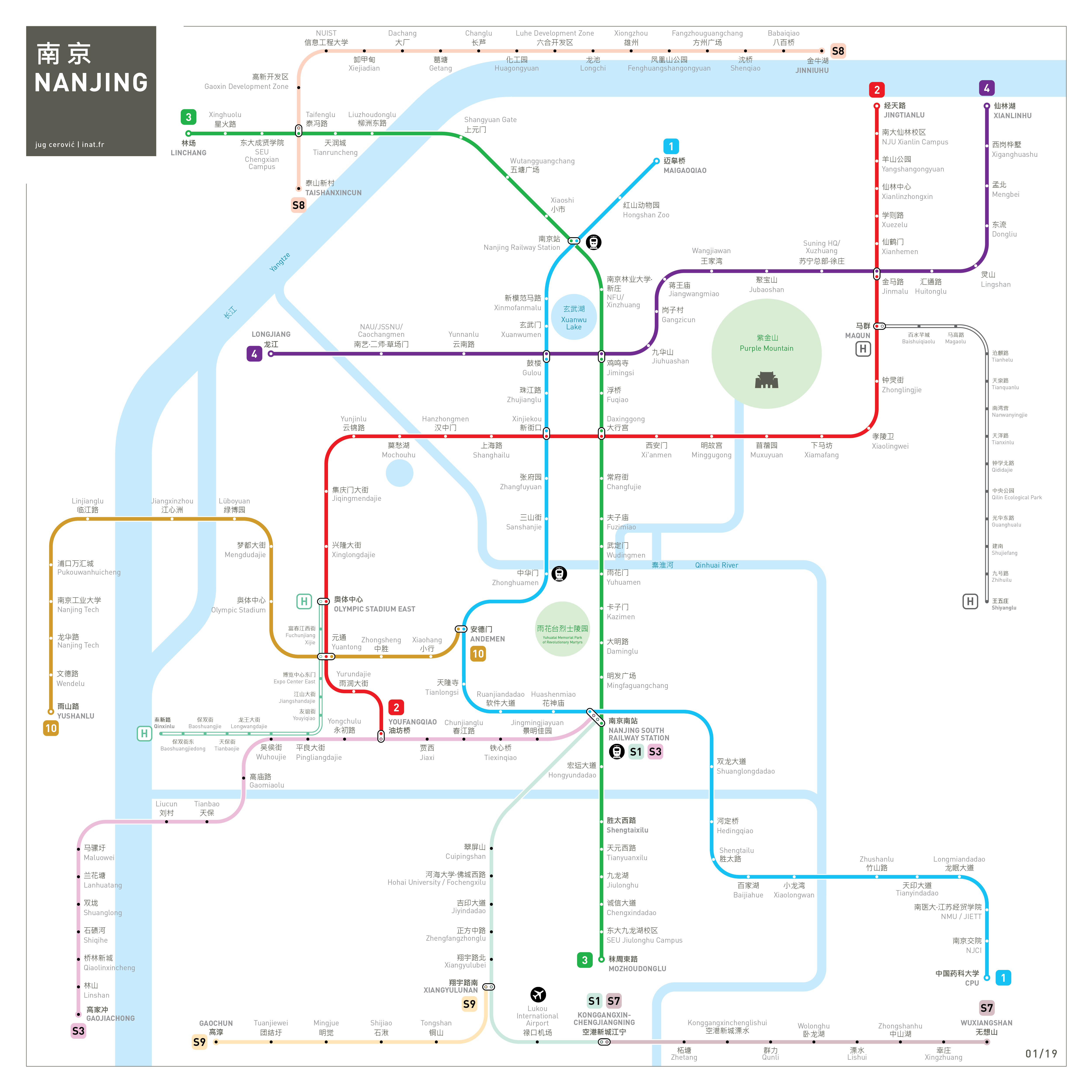 Nanjing Metro Map Mapping And Wayfinding - Nanjing map