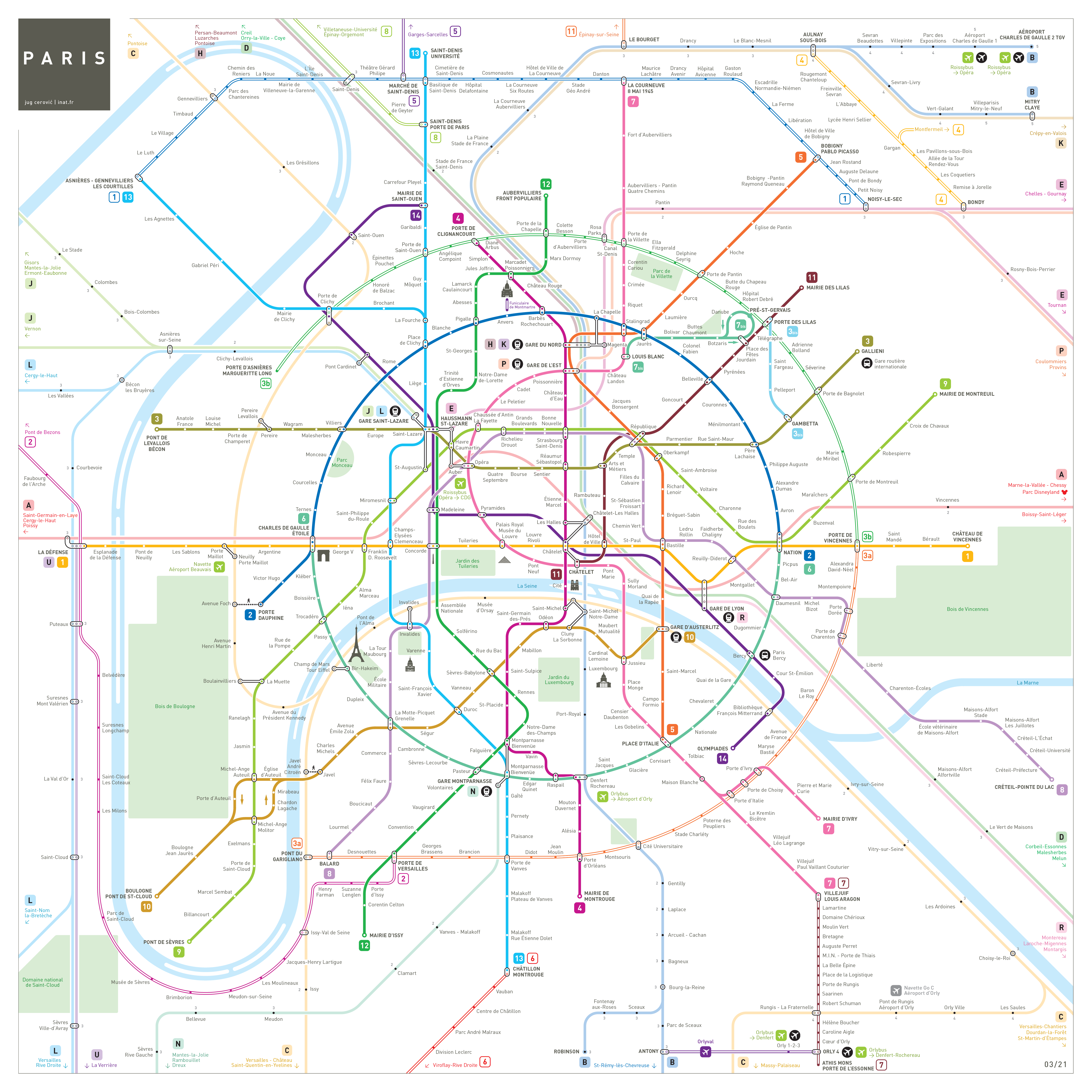 Paris Metro Map INAT Maps - Paris map metro