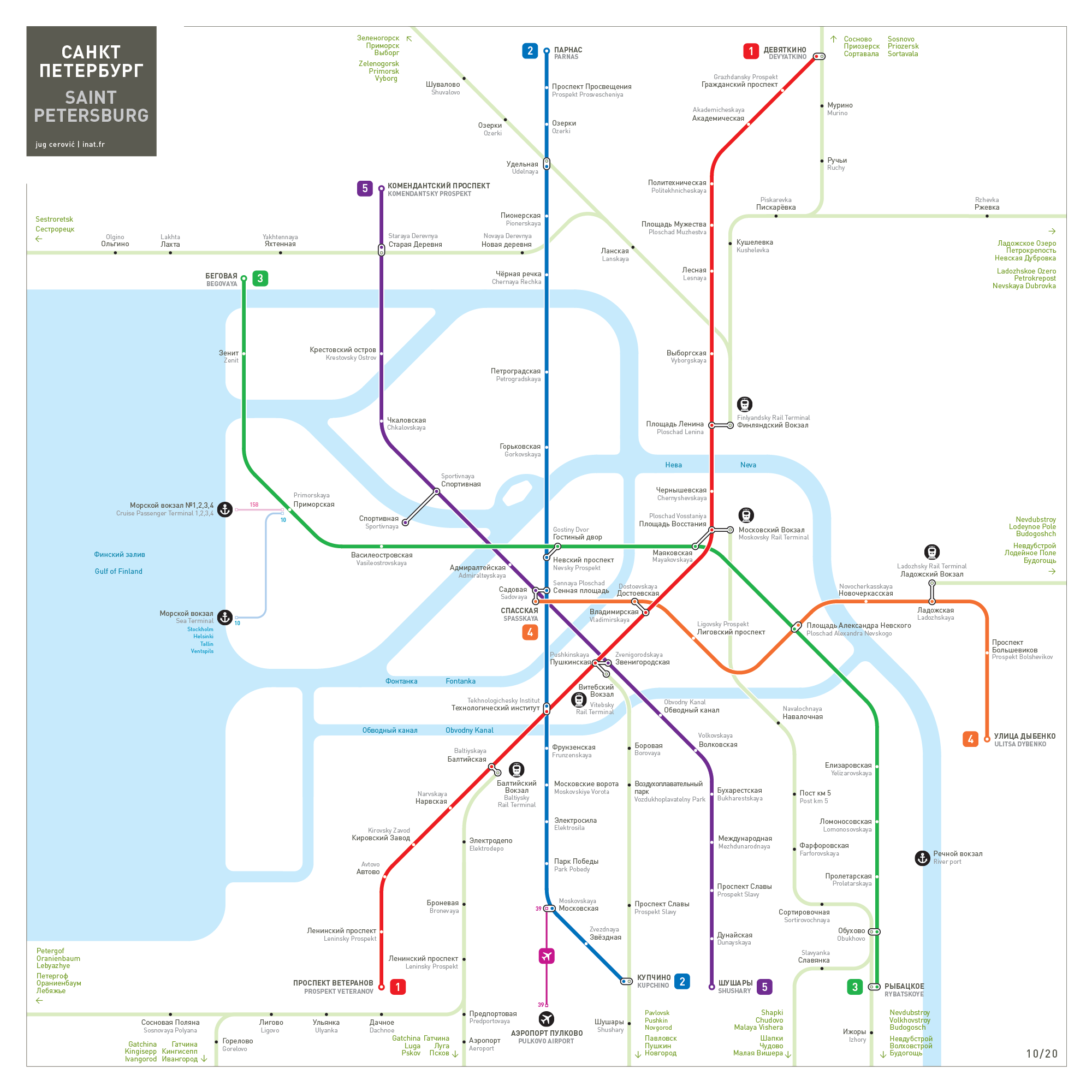 Saint Petersburg metro map