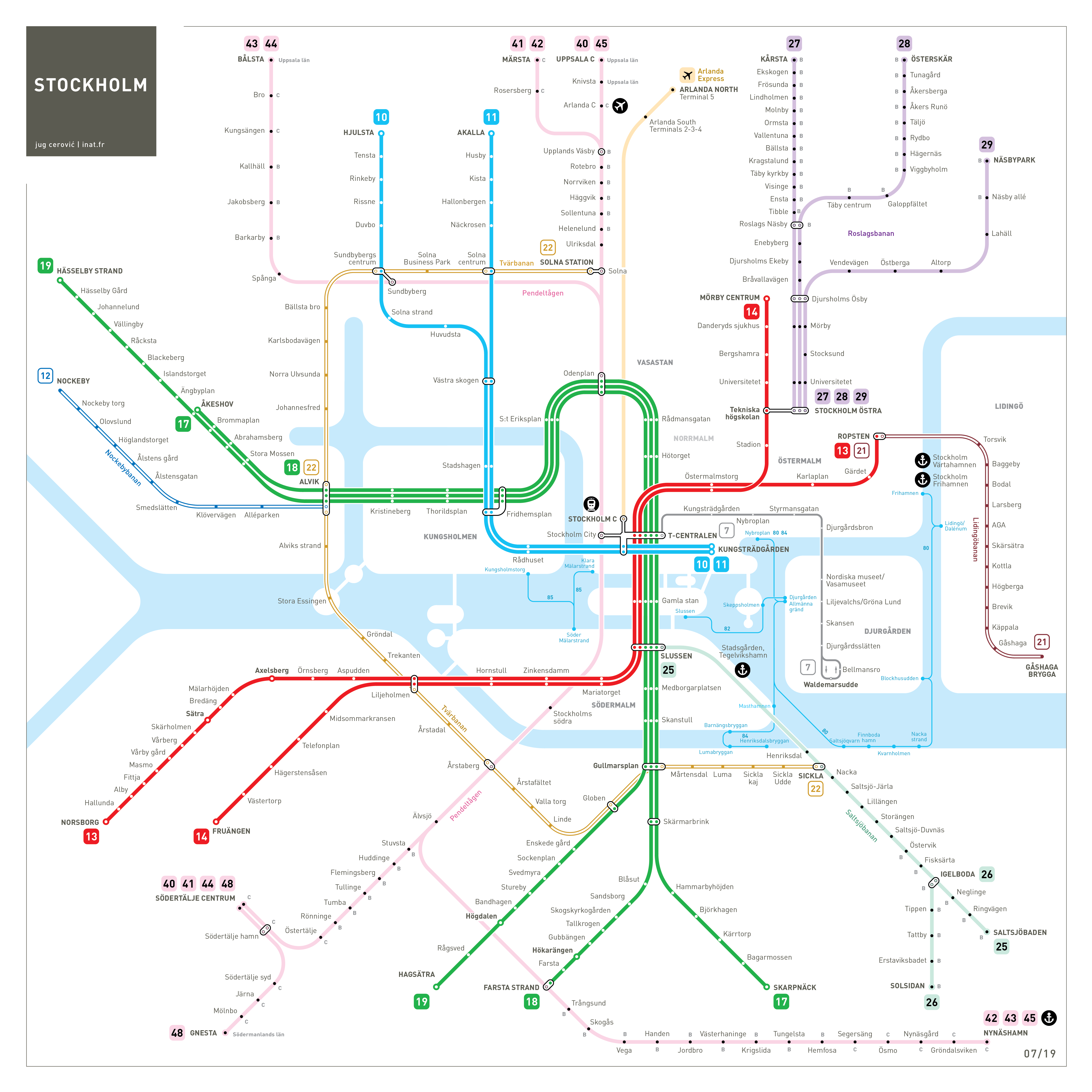 Stockholm metro map