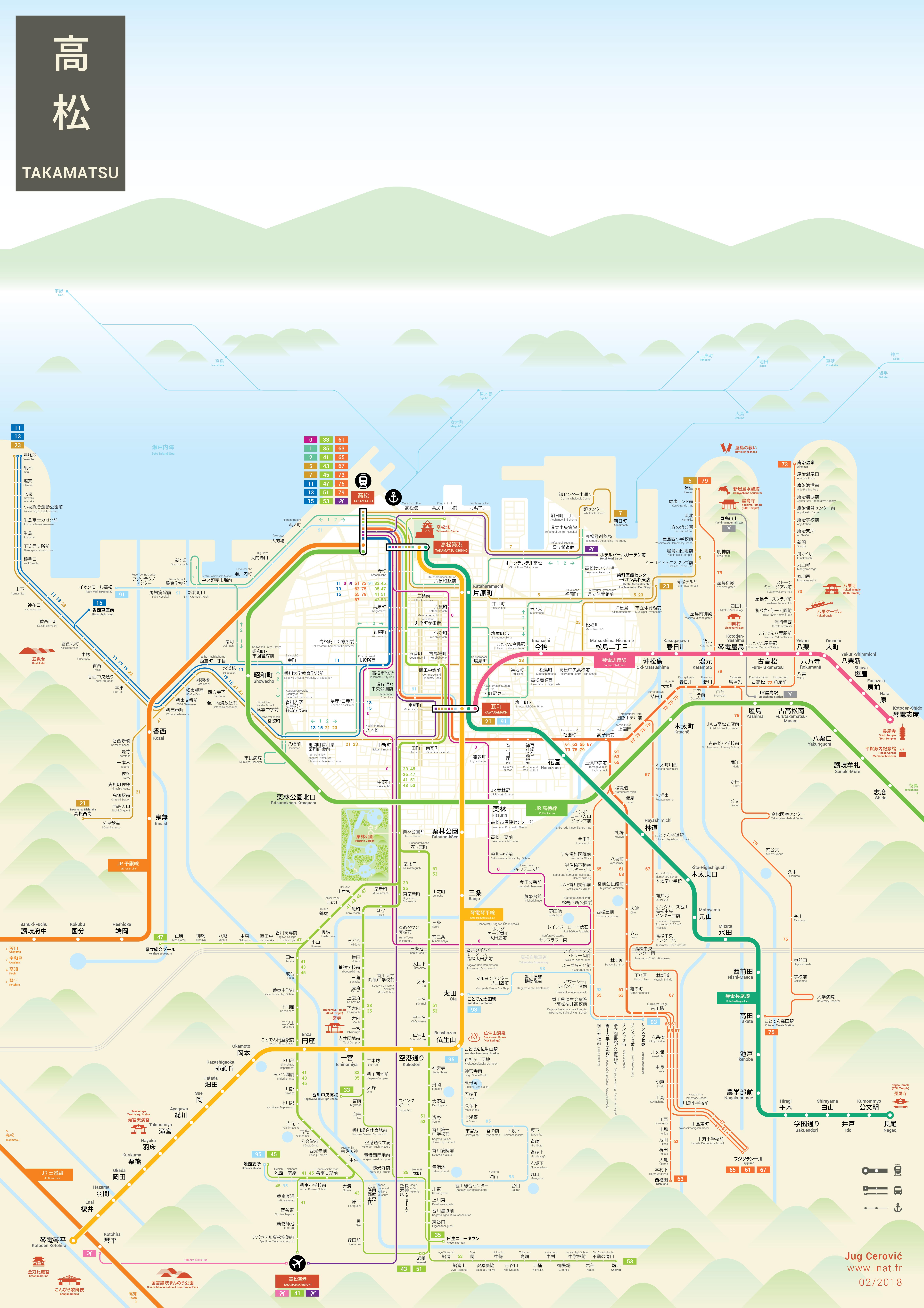 Takamatsu Kagawa Mapping and Wayfinding