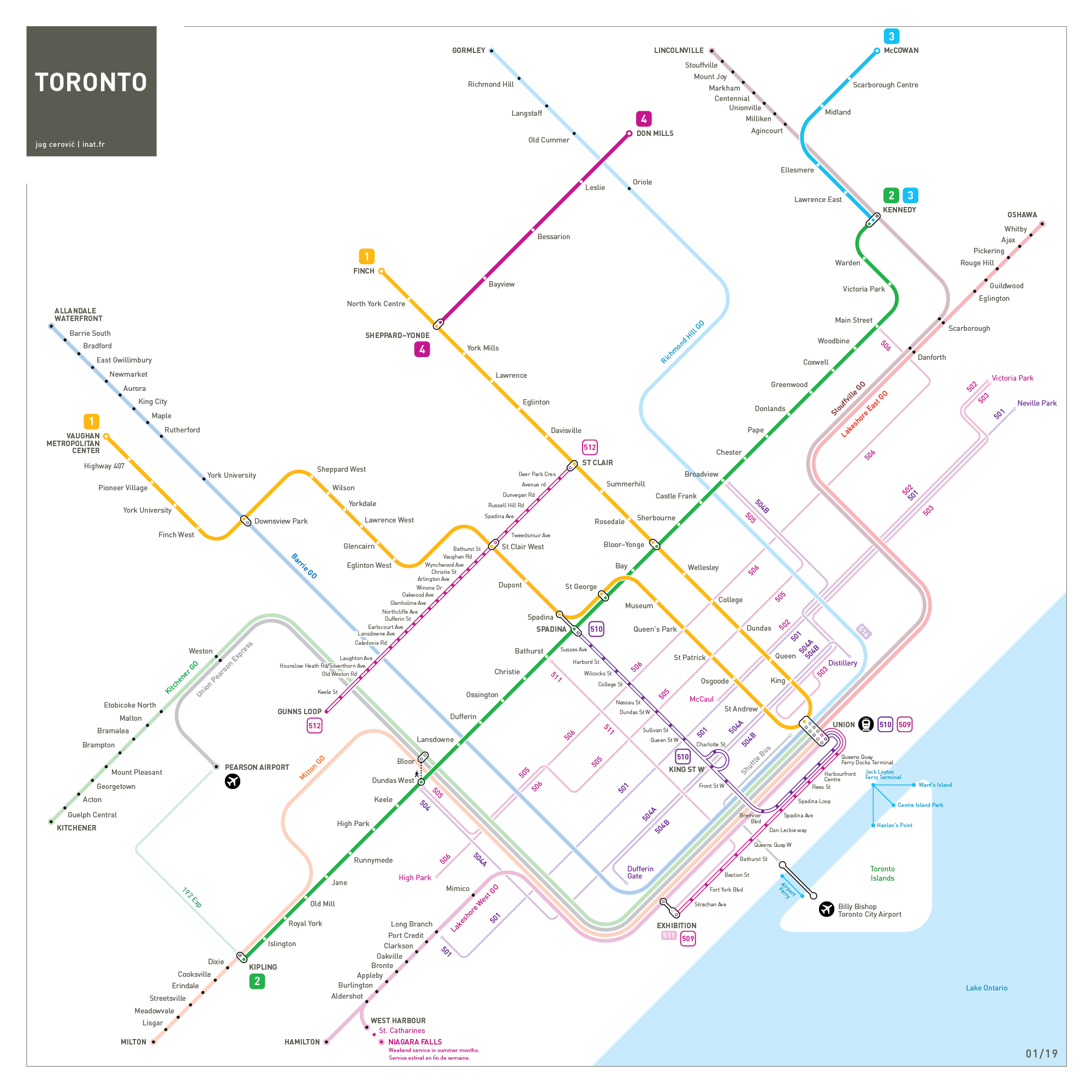 Toronto metro map