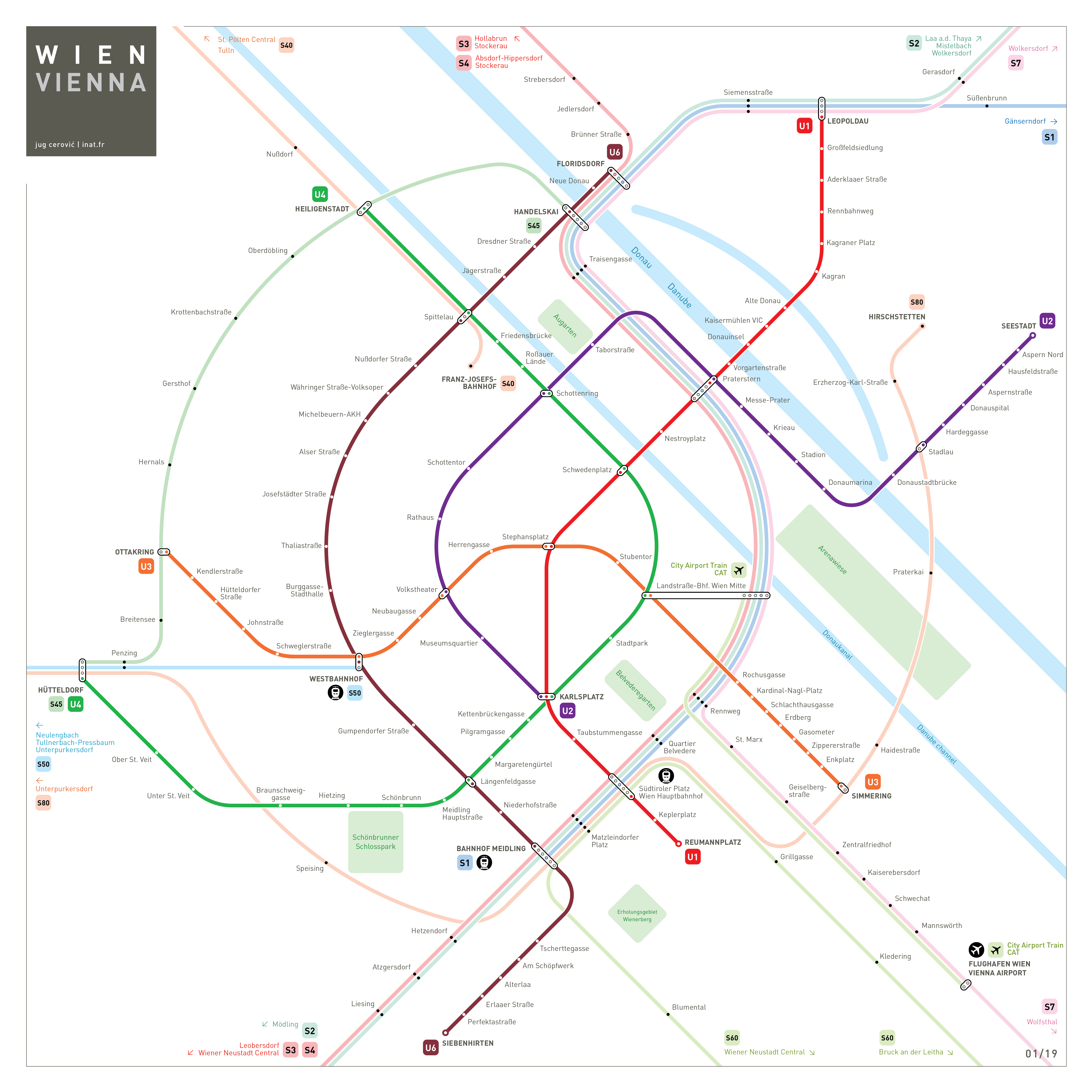 Vienna Metro Map Mapping and Wayfinding