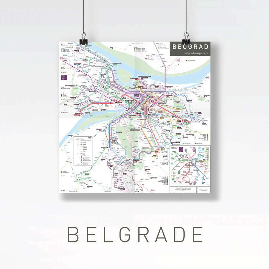 Belgrade public transport bus map