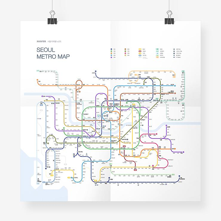 Inat Naver Seoul Metro Map Redesign