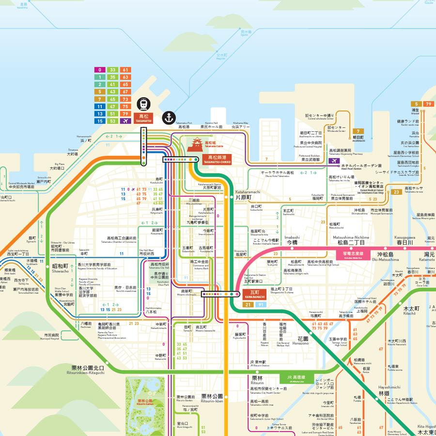 Takamatsu Kagawa Map