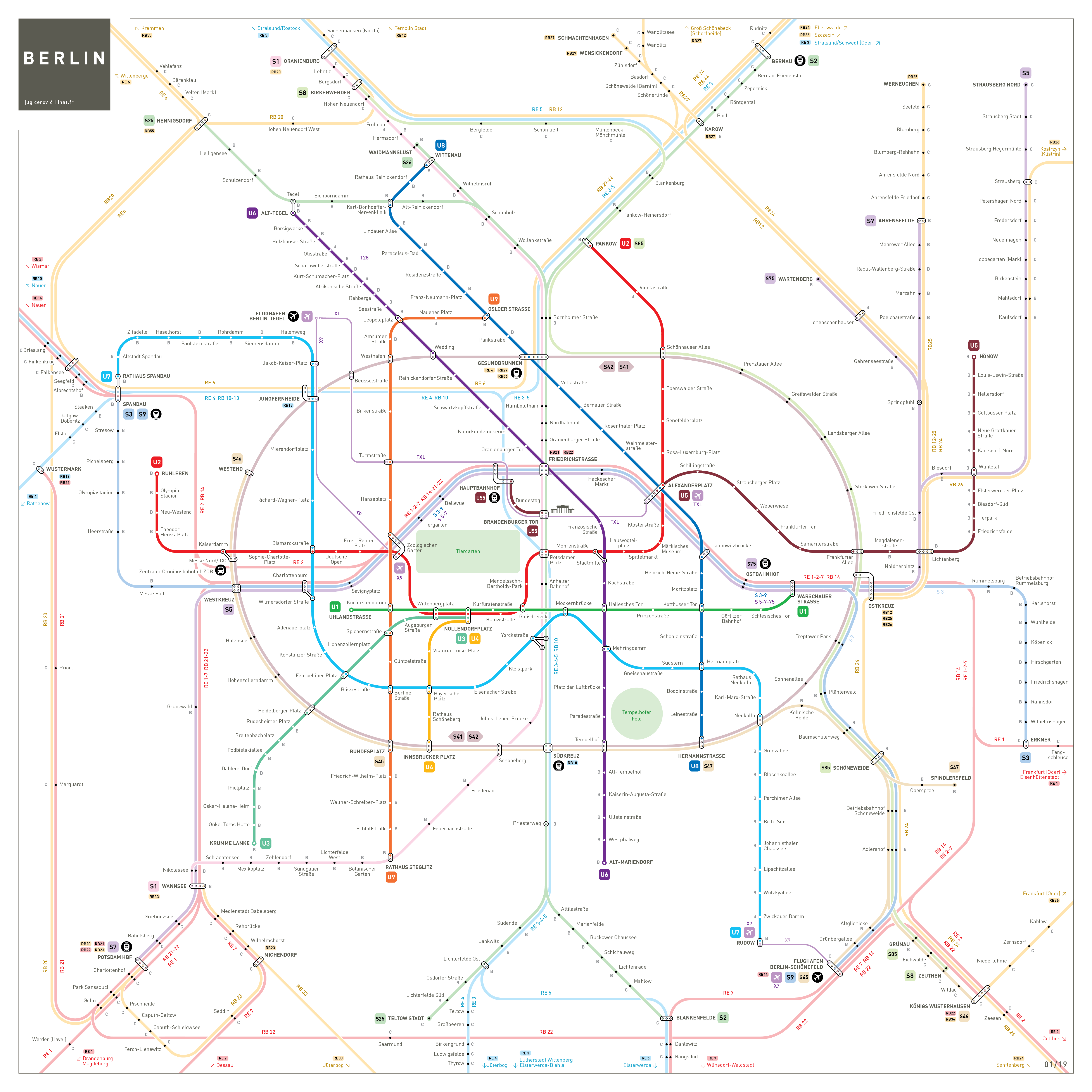 Ideal Berlin S-Bahn U-Bahn Map : inat NB05
